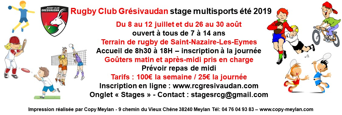 Stages multisports été 2019